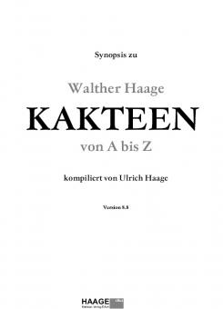 Kakteen von A bis Z - die Synopsis zum Lexikon von Walther Haage - bringt die Nomenklatur auf den neuesten Stand