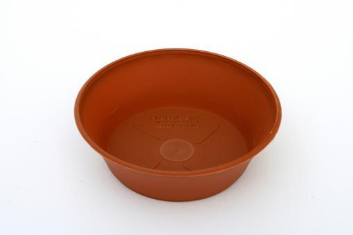 Saucer round 6 cm, terracotta-coloured plastic